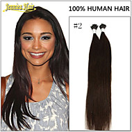 Hot Selling 18-28inch 100Strands Grade 8A I Tip Stick Hair Extensions Real Hair Weft Smooth Hair 14Colors 1g/s 100g/Lot
