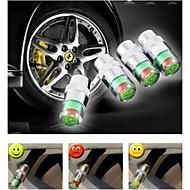 Car Tyre Valve Stem Caps with Pressure Indicator Monitor Sensor Alert bike 4pcs