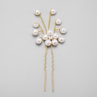 Women's/Flower Girl's Rhinestone/Alloy/Imitation Pearl Headpiece - Wedding/Special Occasion Hair Pin 1 Piece