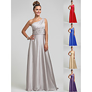 Wedding Party/Formal Evening/Military Ball Dress - Silver Sheath/Column One Shoulder Floor-length Satin Chiffon