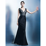 TS Couture® Dress Trumpet / Mermaid V-neck Floor-length Taffeta with Pattern / Print