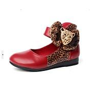MEISJE - Gepunte neus - Platte schoenen ( Zwart/Bruin/Rood/Oranje )