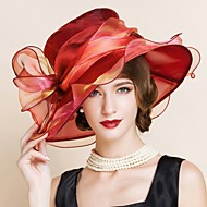כובעים כיסוי ראש נשים חתונה/אירוע מיוחד אורגנזה חתונה/אירוע מיוחד חלק 1