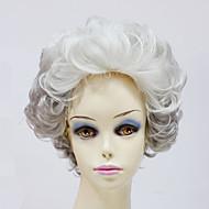 capless lyhyet synteettiset harmaa aaltoileva synteettiset naisten peruukit