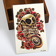 (1pcs) Temporary Tattoo Hand/Skull,Rose,Pocket Watch/Waterproof Big Size Fake Tatoo Sticker Art/Armband,Hand,Back
