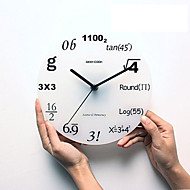 Round Modern/Contemporary / Traditional / Country / Casual / Retro / Office/Business Wall Clock ,Characters / Holiday / Houses /