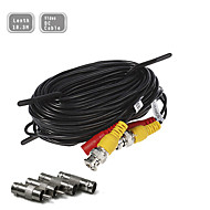 60FT(18.3M) CCTV Security Surveillance Camera Video Power Extension Cable Pre-made All-in-One BNC RCA Cable
