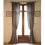 Dva panely Window Léčba Země / Moderní / Středomořský / Designové , Jednolitý Obývací pokoj Lněný Materiál záclony závěsy Home dekorace