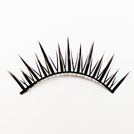 1 Eyelashes lash Full Strip Lashes Eyes Lifted lashes Machine Made Fiber Black Band 0.05mm 12mm