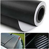 """Glasswetis® SimCarbon 3D Carbon Fiber Vinyl Film Wrap BLACK 12"""" x 50"""" Sheet"""