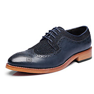 Men's Shoes Wedding/Office & Career/Party & Evening Patent Leather Oxfords Black/Blue