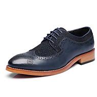 Chaussures Hommes Mariage / Bureau & Travail / Soirée & Evénement Noir / Bleu Cuir Verni Richelieu