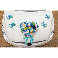 Artificial Flower Decoration Car Door (17*13cm)