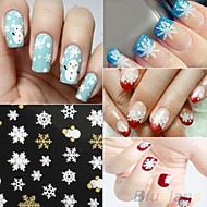 3D Nail Stickers - Muovi - Lovely - Sormi - 62mm*52mm - 12sheet