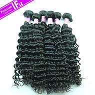 девственница Remy волосы перуанский 5шт / серия оптовая перуанских наращивания волос человека глубокая волна