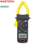 Mastech-ms2001-2000 1000 Amp Current Digital Pincers Multimeter With Background Light And Resistance Test -phi 42mm Jaw