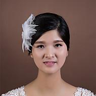 Dame Fjer / Rhinsten / Net Medaljon Bryllup / Speciel Lejlighed Fuglebur Slør Bryllup / Speciel Lejlighed 1 Stykke