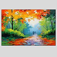 pinturas al óleo paisaje moderno calle lluviosa material de lienzo con bastidor de madera listo para colgar tamaño: 60 * 90cm.