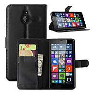 のために Nokiakケース ウォレット / カードホルダー / スタンド付き ケース フルボディー ケース ソリッドカラー ハード PUレザー NokiaNokia Lumia 730 / Nokia Lumia 640 / Nokia Lumia 640 XL /