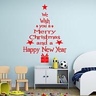 Wall Stickers Wall Decals Style Blessing Language Christmas Tree PVC Wall Stickers