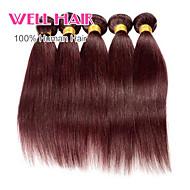 "4pcs/lot ""14-24""Inch Brazilian Virgin Hair Straight Human Hair 99j Color"