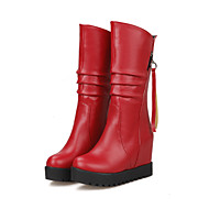 Women's Shoes Wedge  Heel Round Toe Mid-Calf  Boots More colors available
