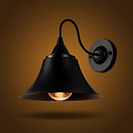 American Country Style RH Simple Black Dress Retro Personality Iron Black Wall Lamp