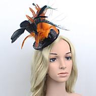 Women's Satin/Feather Headpiece - Wedding/Special Occasion Western Style Fascinators 1 Piece