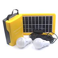 תאורה פנסים ותאורה לאוהל LED 110 Lumens 1 מצב - ניתן לטעינה מחדש מחנאות/צעידות/טיולי מערות / טיולים / רב שימושי ABS