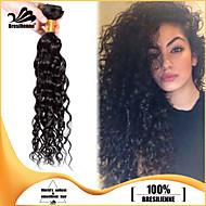 4stk brasilianske hårbunter vever naturlig svart krøllete innslaget 100% ubehandlet brasilianske menneskehår innslaget