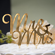 Mirror Surface Cake Topper Mr & Mrs (2 color)