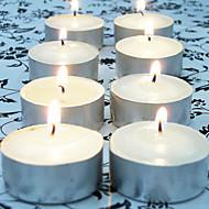 100pcs branco sem chama velas votivas sem cheiro tealight decoração da casa casamento