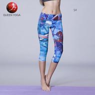 Yoga Pants Leggings / Fundos / Calças / 3/4 calças justas / Crop wicking / Compressão / Materiais Leves Caído Stretchy Wear Sports