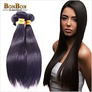 "3bundles שיער פרואני גלם אנושי 8 ""-30"" ישר שחורים טבעיים"