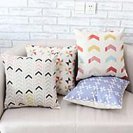 4PCS Dazzle Colour Geometric Patterns Pillowcase Sofa Home Decor Cushion Cover (17.7*17.7 inch)