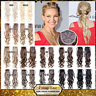 Excellent Quality Synthetic 22 Inch Long Wavy Ribbon Ponytail Hairpiece - 16 Colors Available