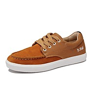 Men's Shoes Outdoor / Office & Career / Athletic / Casual Leather / Denim Fashion Sneakers Brown / Gray