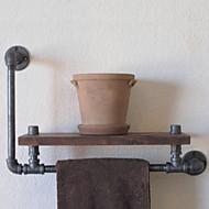industriële stijl plank boekenkast shelf industriële loodgieterswerk pijp retro naar de oude rack plank handdoek rack-Z39 doen