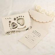 כרטיסי הזמנה הזמנות לחתונה משולש מותאם אישית 50 יחידה / סט