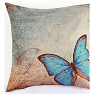 Blue Butterfly Pillowcase Sofa Home Decor Cushion Cover (17*17 inch)