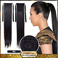HOT Selling 22inch 55cm 100g/pcs Dark Brown (#2) Fashion Ponytail Hairpieces Braid Straight Synthetic Ponytail