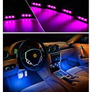 4x 3LED autó töltés 12V ragyogását belső díszítő 4in1 hangulat fény lámpa