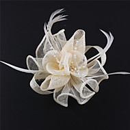 Handmade Sinamay  Feather Beads Brooch Fascinators  (more colors)