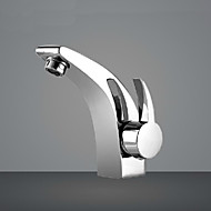 Bathroom Faucet Ceramic Valve Chrome Plated Brass Basin Sink Faucet Single Handle Water Mixer Taps