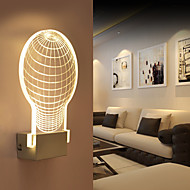 Acrylic Wall Lamp PVC Lamp Light Chip LED / Bulb Included Modern/Contemporary Metal 220V  5㎡-10㎡  L16.8**H25.3*W5CM  5W
