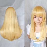 cosplay blonde Mode-Must-Have Mädchen hochwertigen Haarperücke