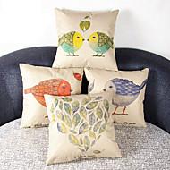 Set of 4 Little Chicken Pillowcase Sofa Home Decor Cushion Cover(17*17inch)
