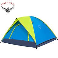 OSEAGLE 3-4 személy Sátor Hátizsákos utazáshoz sátor Egy szoba kemping sátor 1500-2000 mm Nejlon Oxford TaftPárásodás gátló Vízálló
