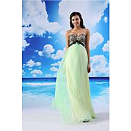 Formal Evening Dress - Sage A-line Sweetheart Floor-length Lace/Organza/Satin
