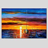 Kézzel festett Absztrakt tájkép Vízszintes,Modern Európai stílus Egy elem Hang festett olajfestmény For lakberendezési